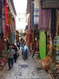 耶路撒冷老市市场 免版税库存图片