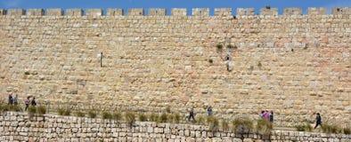 耶路撒冷老市-以色列墙壁  免版税图库摄影