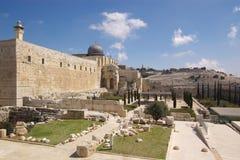 耶路撒冷老废墟 免版税库存图片