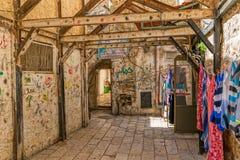 耶路撒冷老胡同 免版税图库摄影