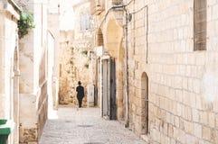 耶路撒冷老街道 免版税库存照片