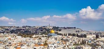 耶路撒冷老sity视图 库存图片