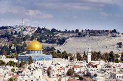 耶路撒冷老sity视图 免版税库存照片