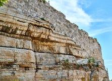 耶路撒冷耶路撒冷旧城的墙壁  库存图片