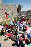 耶路撒冷行军团结 图库摄影