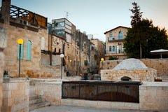 耶路撒冷街道和屋顶在老城市 以色列 免版税图库摄影