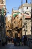耶路撒冷街道场面 免版税库存图片