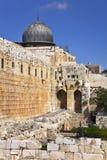 耶路撒冷西部寺庙的墙壁 免版税图库摄影