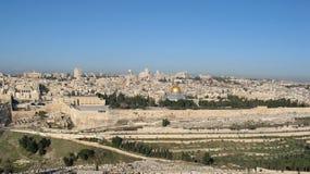 耶路撒冷视图 免版税库存图片