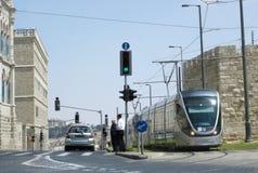 耶路撒冷轻的铁路运输 免版税库存图片