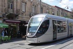 耶路撒冷轻的铁路运输 免版税库存照片