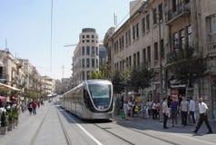 耶路撒冷轻的铁路运输 库存照片