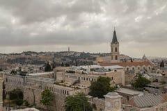 耶路撒冷都市风景 免版税库存照片