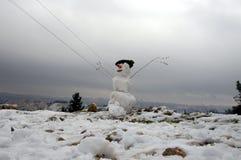 耶路撒冷雪人 图库摄影