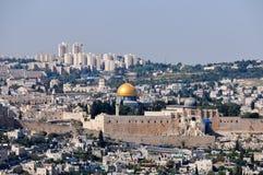 耶路撒冷,以色列全景  免版税库存图片