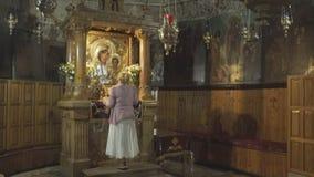耶路撒冷,以色列2016年9月,21日:在圣母玛丽亚的坟茔的寺庙在耶路撒冷 影视素材