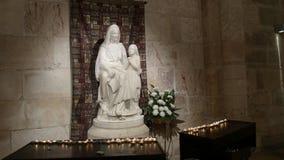 耶路撒冷,以色列2016年9月,20日:接近圣安妮雕象在耶路撒冷 股票录像