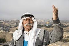 耶路撒冷,以色列- 2016年12月:阿拉伯人 库存照片