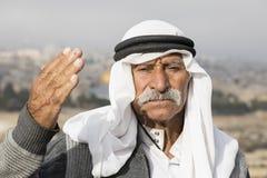 耶路撒冷,以色列- 2016年12月:阿拉伯人 免版税库存照片