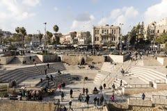 耶路撒冷,以色列- 2016年12月17日:大马士革门 库存图片