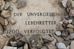 耶路撒冷,以色列- 2016年12月17日:奥斯卡・辛德勒坟墓 库存图片