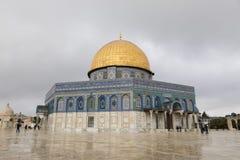耶路撒冷,以色列- 2016年12月18日:岩石圆顶  免版税图库摄影