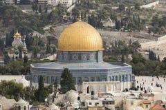 耶路撒冷,以色列- 2016年12月16日:岩石Dom  库存图片