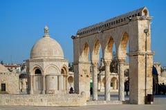 耶路撒冷,岩石地区的圆顶 免版税库存图片