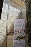 耶路撒冷,以色列2017年6月11日,在基督徒Quarte的一条街道 免版税库存照片