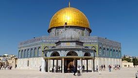 耶路撒冷,以色列- 2013年5月21日:岩石的圆顶在耶路撒冷 库存照片