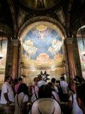 耶路撒冷,以色列- 2015年7月13日:马赛克天花板在万国教堂里(极度痛苦的大教堂) 图库摄影