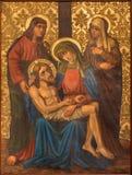耶路撒冷,以色列- 2015年3月4日:从结尾的圣母怜子图(证言)油漆的19 分 免版税库存图片