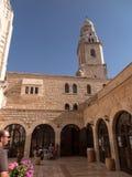 耶路撒冷,以色列- 2015年7月15日:Dormition的大教堂在锡安山的在耶路撒冷 库存照片