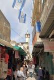 耶路撒冷,以色列- 2017年2月27日-游人在耶路撒冷 免版税库存照片