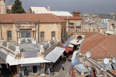 耶路撒冷,以色列- 2017年2月28日-购物街道在耶路撒冷 免版税库存照片