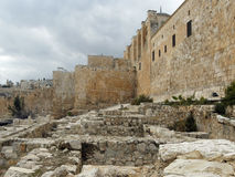 耶路撒冷:从第二个寺庙时的圣殿山 免版税库存图片