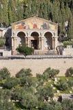 耶路撒冷-万国教堂(极度痛苦的大教堂)由建筑师安东尼奥Barluzzi (1922年- 1924) 库存照片