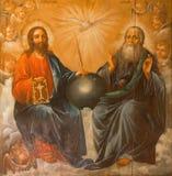 耶路撒冷-从圣墓教堂的三位一体绘画由未知的艺术家19 分 库存图片