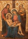 耶路撒冷-从结尾的圣母怜子图油漆的19 分 在我们的夫人Of The Spasm亚美尼亚教会里  库存照片