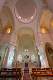 耶路撒冷-教堂中殿在我们的夫人Of作为其中一个的The Spasm亚美尼亚教会里驻地通过Dolorosa 免版税库存图片