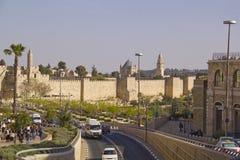 耶路撒冷- 3月29,2013 :街道场面在耶路撒冷老镇  库存图片