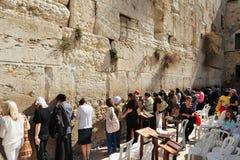 哭墙-以色列 免版税图库摄影