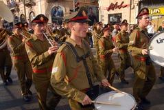 耶路撒冷3月 图库摄影