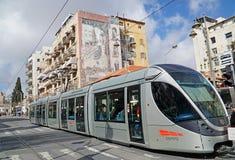 耶路撒冷轻的铁路运输培训 库存图片