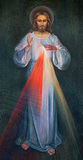 耶路撒冷-耶稣现代油漆在我们的夫人Of由未知的艺术家的The Spasm亚美尼亚教会里  免版税库存照片