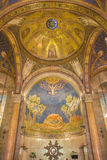 耶路撒冷-耶稣马赛克在所有Nationsby彼得罗D'Achiardi教会的长老会的管辖区的Gethsemane庭院里(1922年- 1924) 图库摄影