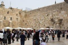 耶路撒冷以色列西部墙壁2015年3月23日 库存图片
