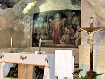 耶路撒冷Gethsemane拘捕耶稣洞穴地方2012年 库存照片