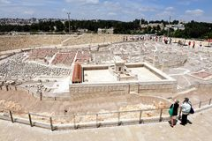 耶路撒冷Holyland模型  图库摄影