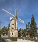 耶路撒冷montefiore风车 库存图片